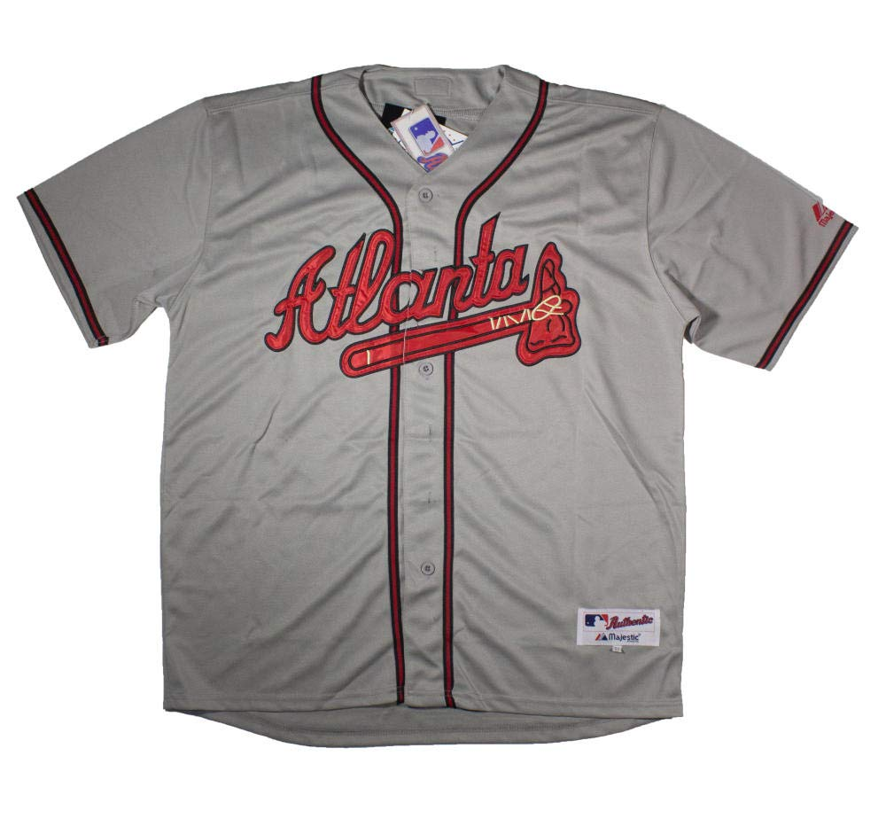 outlet store 89ce3 d4c5a Chipper Jones Signed Atlanta Braves Majestic Jersey PSA DNA ...