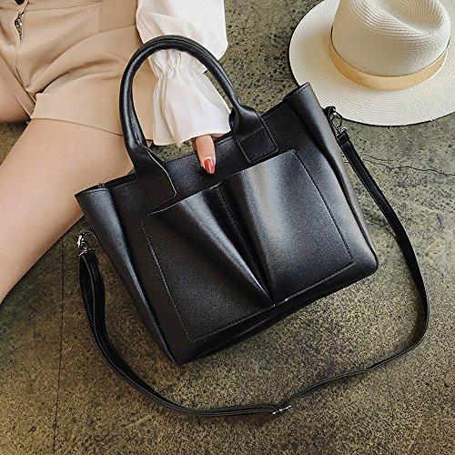 Di Ed Messenger Da Alta Pelle In Vintage Qualità Borsa Elegante Semplice Bag Donna Nero Ansenesna PqK1UTAzc