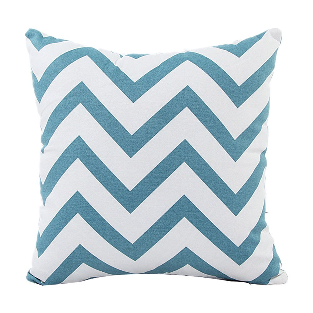 Aremazing Throw Pillow Cover Wave Pattern Canvas Home Decor Pillowcase Throw Pillow Cushion Cover 18 x 18 Inches Black