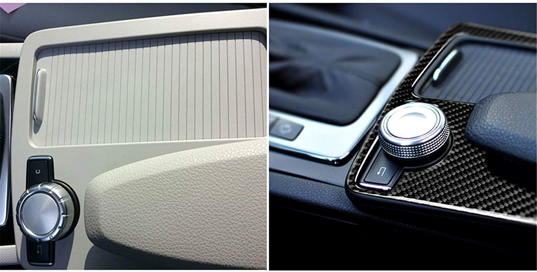 SUPAREE Car Real Console centrale in carbonio Adesivo avvolgente Bracciolo Portabicchieri Scatola Pannello Accessori per rivestimento per Mer-cedes Classe B-ENZ