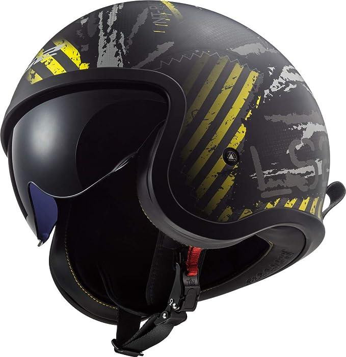 Ls2 Herren Nc Motorrad Helm Schwarz Gelb S Auto