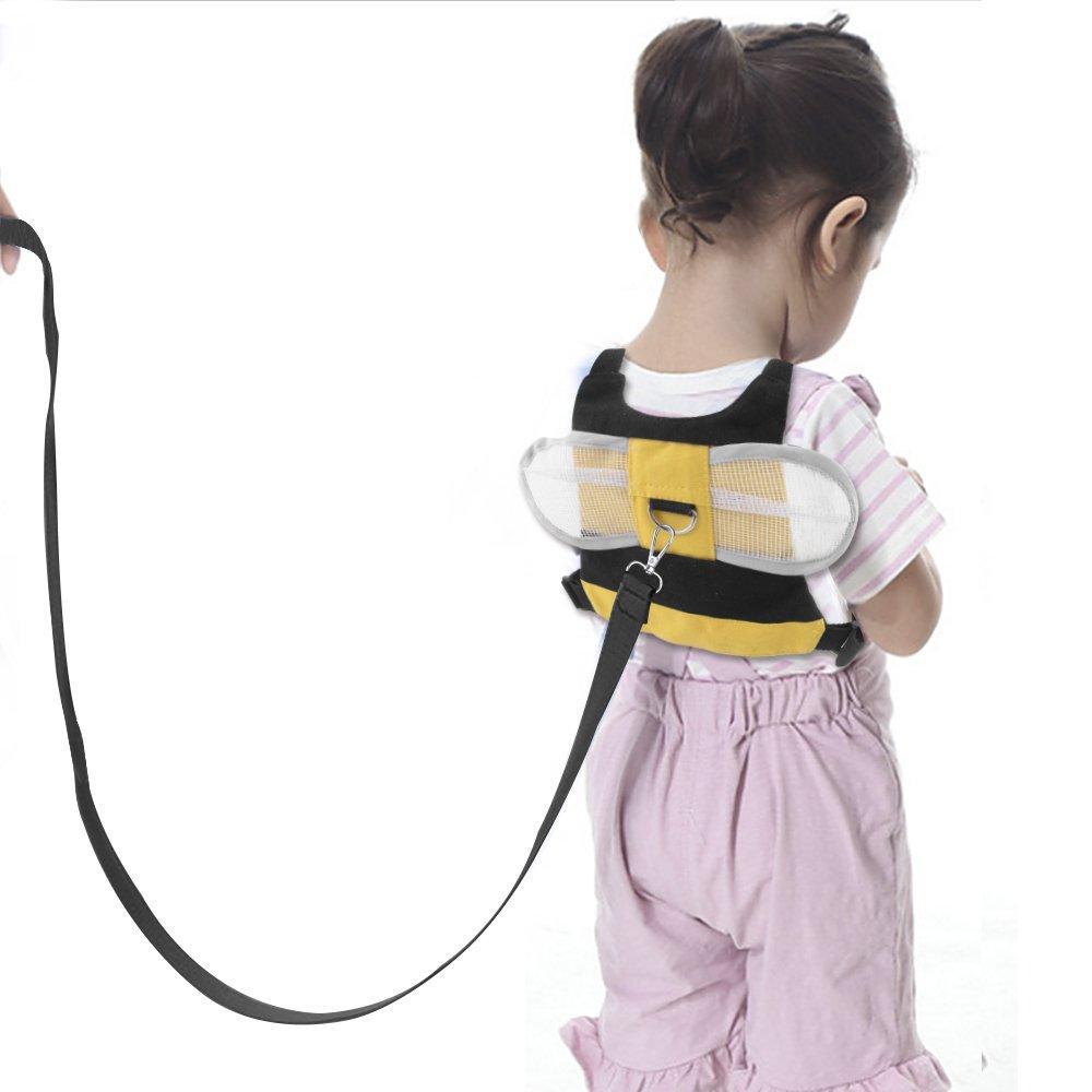 OFUN Arnes para Bebes y Correa para Niños Seguridad, Arnes Niños, Diseño Animal (Amarilla Abeja) AL003-Y-ES