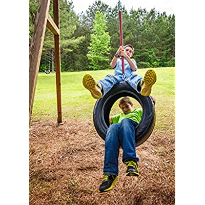 Old Fashion Swing with Green Sleeve. 66 inch chain. Hand grips standard.: Toys & Games