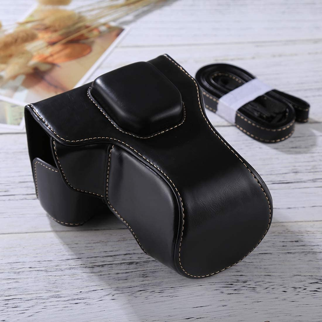 16-50mm // 18-55mm Lens XIAOMIN Full Body Camera PU Leather Case Bag with Strap for FUJIFILM XT10 // XT20 Color : Black Premium Material