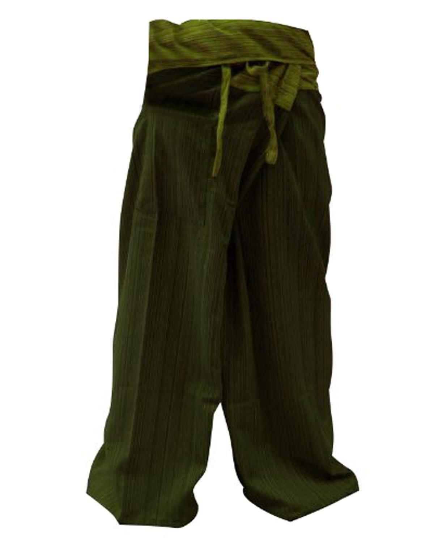 Night Bazaar:Cool Thai Fisherman Pants Yoga Trousers FREE SIZE Plus Size Cotton bird