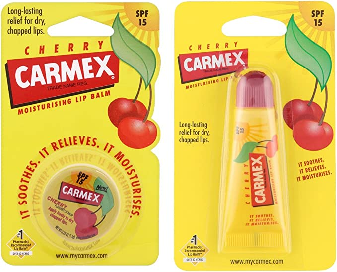 Carmex Cherry Tube and Pot - (Pack of 2): Amazon.es: Electrónica