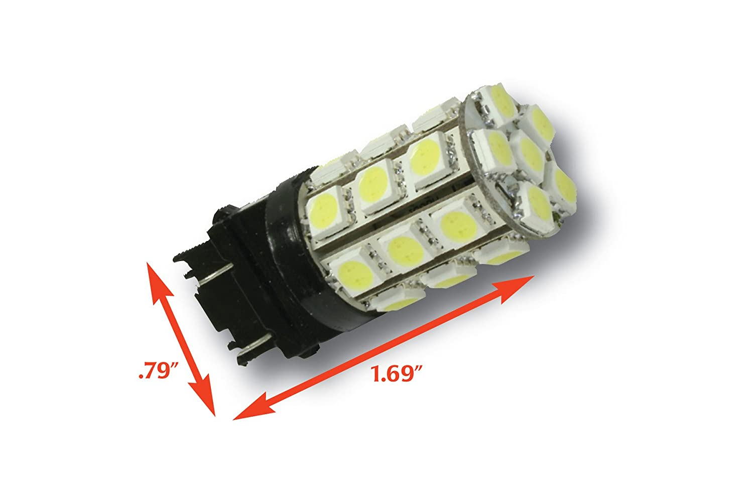 Putco White 7443 Type 360-Degree High Intensity LED Premium Replacement Bulb Single Bulb 237443W-360-S