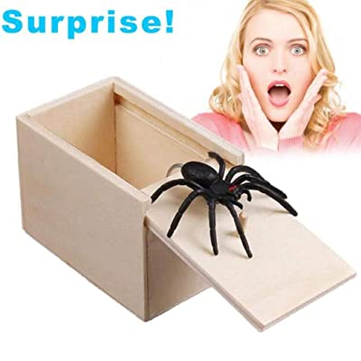 April Fool's Day Gift Wooden Prank Trick Practical Joke Home Office Scare Toy Box Gag Spider Kids Funny Gift: Arts, Crafts & Sewing