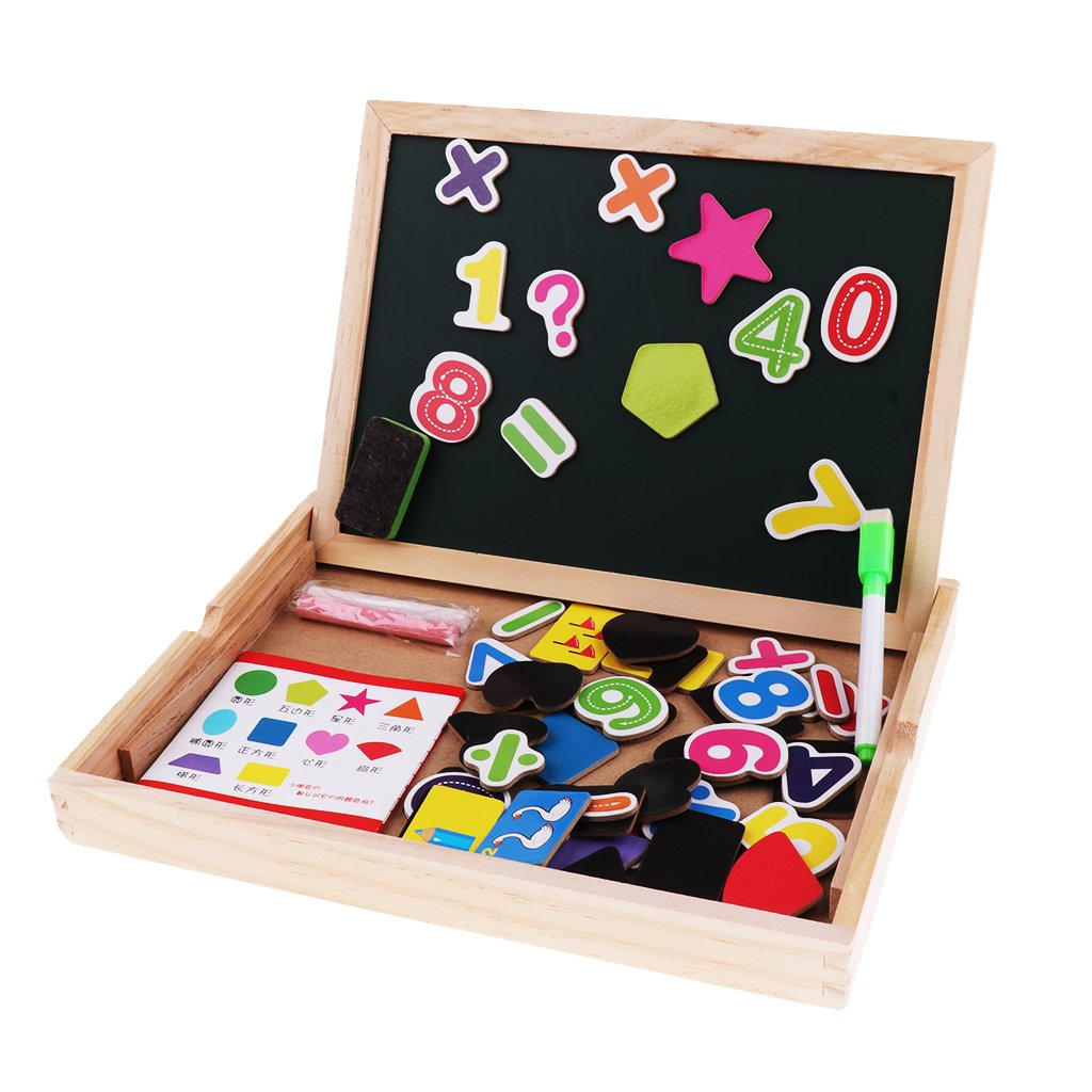 Homyl Wooden Magnetic Numbers/Shape Puzzles, Learning & Educational Game Toy for Kids