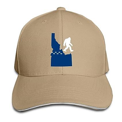 WFIRE Gorras de béisbol para Adultos Idaho State Bigfoot Personalizadas y Ajustables