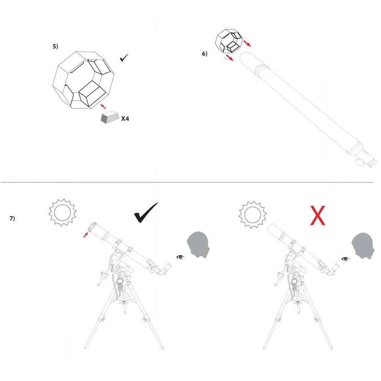 Filtro Solar para Reflector y telescopios SC de 8 para observar el Sol en la luz Blanca Explore Scientific Sun Catcher