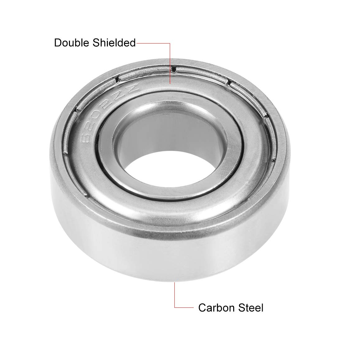 Pack of 10 Carbon Steel sourcing map 6200-2RS Ball Bearing 10mm x 30mm x 9mm Double Sealed 180200 Deep Groove Bearings
