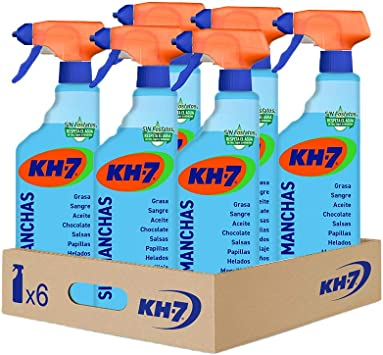 KH-7 Pulverizador Sin Manchas, Quitamanchas para Ropa, Pulverizador Sin Lejía, Fácil de Aplicar, Respetuoso con los Tejidos, Pulverizador 750 ml, 6 ...