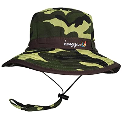 538dc6f281b7 Bigood Chapeau Enfant Fille Garçon Bonnet Voyage Pêche Soleil Promenade  Camouflage Eté