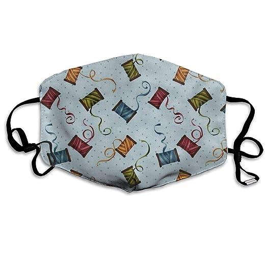 14def072fad4 Amazon.com: Line Coil Mouth Mask Unisex Anti-dust Cotton Face Mask ...