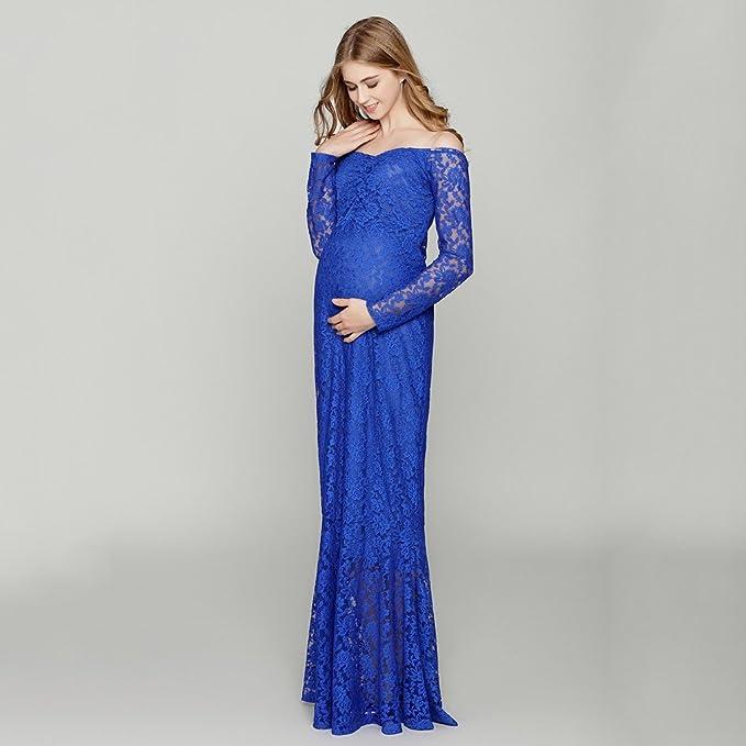 Sharplace Ropa de Fotografía de Mujeres Embarazadas Vestido Ajustadon Accesorios de Mujer Cómodo - Azul, 82cm/32.28inch (tiled), 102cm/40: Amazon.es: Ropa y ...