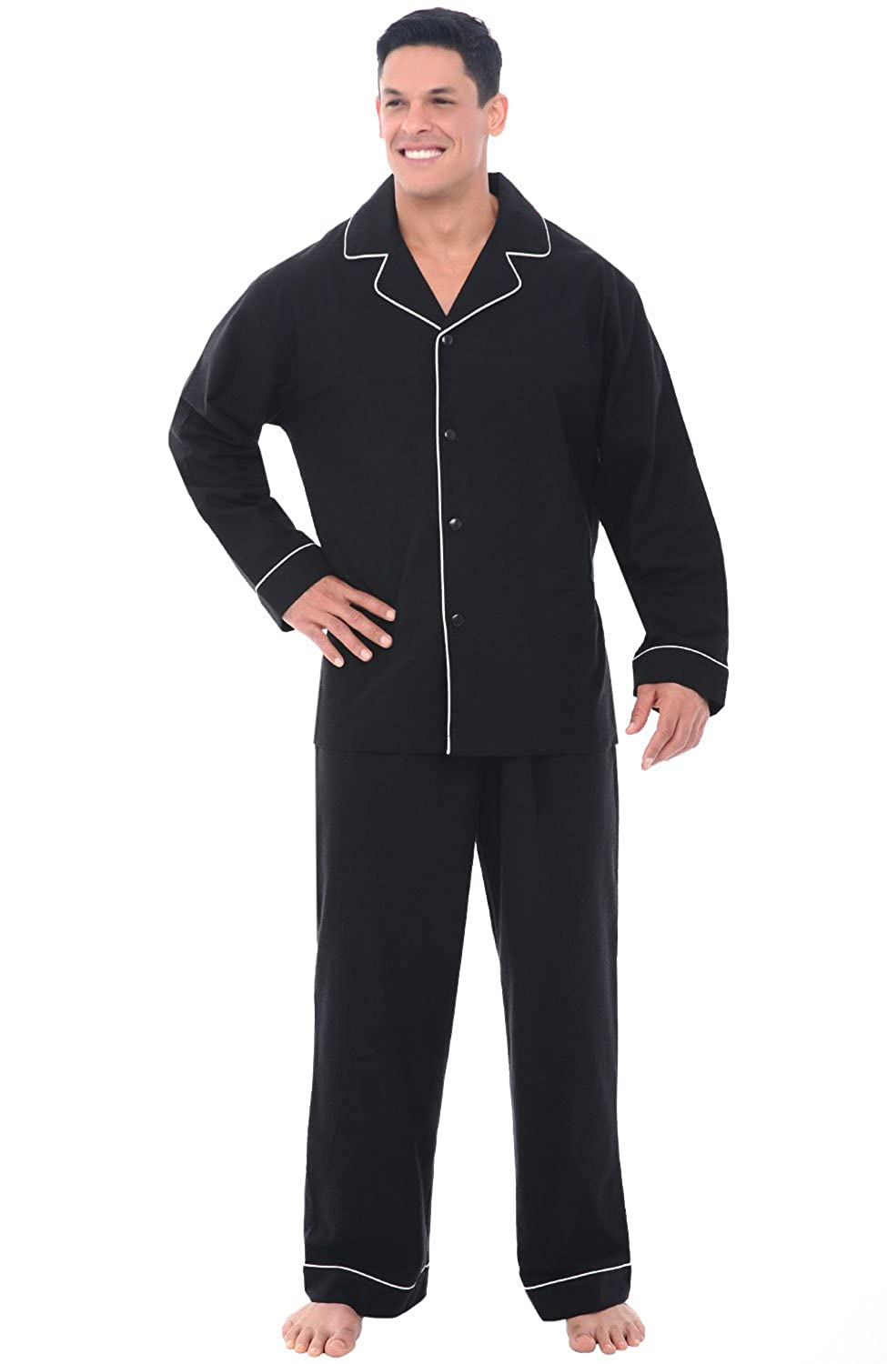 Alexander Del Rossa Mens Flannel Pajamas, Long Cotton Pj Set