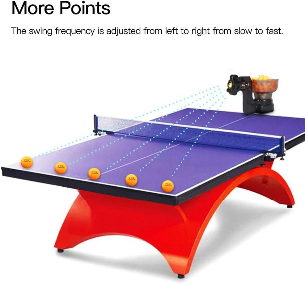 Blue98 Robot de ping-Pong avec 36 balles de Spinning diff/érentes Robot de Tennis de Table Machine Automatique pour la Formation