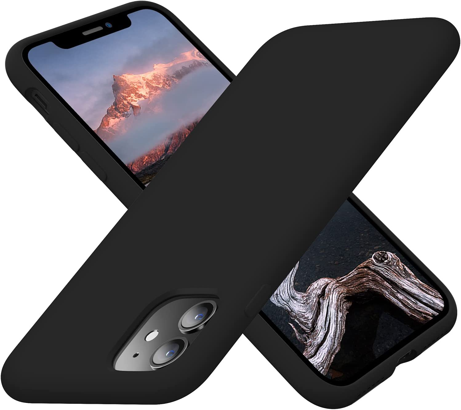 Cordking iPhone 11 Cases, Silicone Ultra Slim Shockproof Phone Case with [Soft Anti-Scratch Microfiber Lining], 6.1 inch, Black