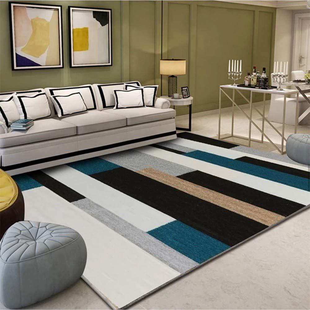 エリアラグ リビングルームのカーペット抽象的なシンプルなカーペット寝室のベッドサイドの汚れた洗えるカーペットノルディックミニマリスト B07S6DMXJQ