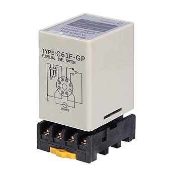 Akozon Interruptor de Nivel Controlador de Nivel de Agua C61F-GP AC220V 50 / 60HZ