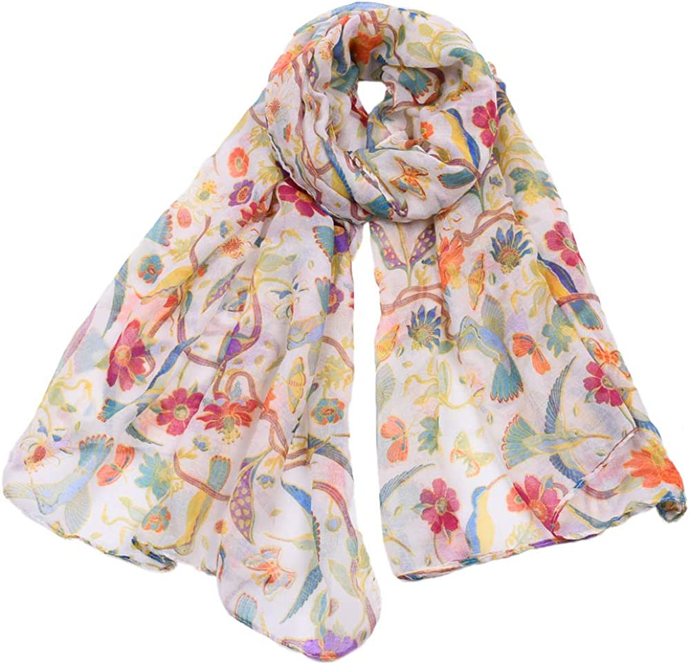 Animal Hummingbird Sun Flower Print Scarfs Women Long Wrap Shawl Scarves By Clest F/&H