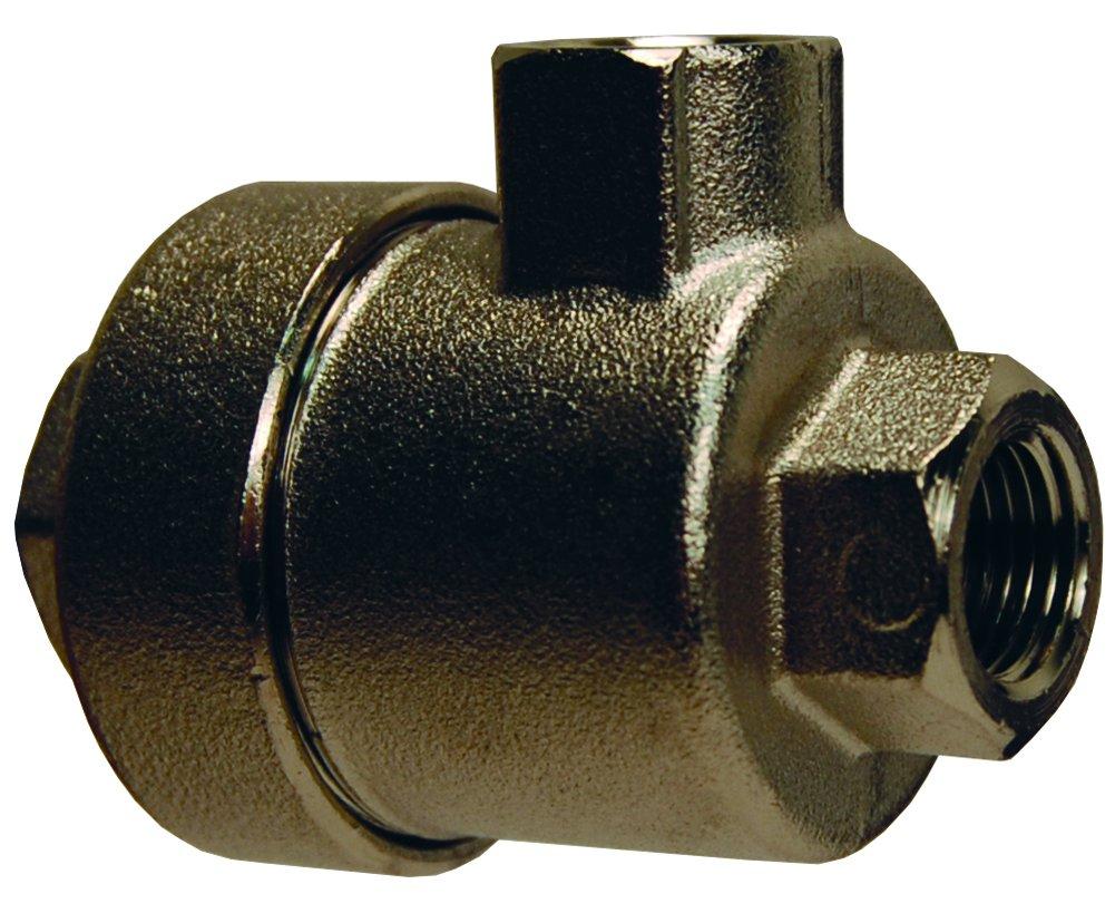 Dixon 79821818 NPT Quick Exhaust Valve, Nickel Plated Brass Body, Nylon Seal, 3/8' 3/8