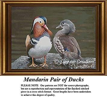 Mandarin Duck ~ Birds ~ DIY Counted Cross Stitch Pattern