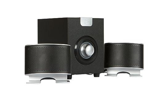 Altec Lansing Enceintes AL-SNDBX1521 Speaker (Black/Silver) for Laptop and Desktop