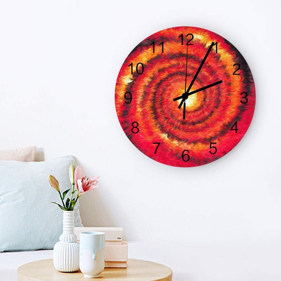 Amazon.com: MuswannaA Round Wooden Wall Clock 12 Inch