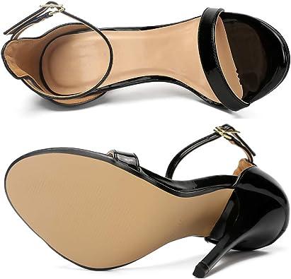 Femmes Sangle de Cheville Chaton Talon Sandales /à bout ouvert /à Talons moyens Chaussures de Court de Mariage Robe de Robe de Chaussures JC-5