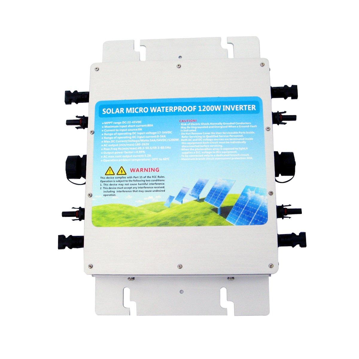 Eco Worthy 1200w Spannungswandler 24v To 230v Waterproof 70 260v Ac 180 350v Dc Voltage Converter Wechselrichter Grid Tie Power Inverter For Sonnenkollektor With Mppt Function