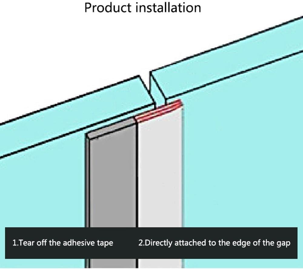 Silicona meteorológica para desmontar – PAWACA autoadhesivo bottom herramienta proyecto de tope para puertas correderas y ventanas, aislamiento insonorización de sellado para grietas y huecos, 5 capas, 8M/26.2FT: Amazon.es: Hogar