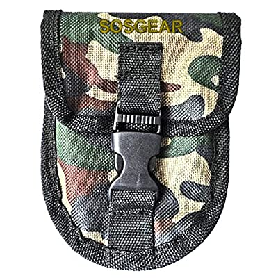 """Pocket Chainsaw by SOS Gear, Emergency Survival Gear Hand Saw with Camo Pouch, Snap Closure and Belt Loop for Campers, Hunters, Fisherman and Backpackers, Chain Saw Available in 24"""" and 36"""""""