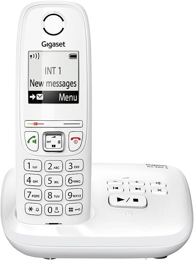 Gigaset AS405 Trio - Juego de teléfonos fijos DECT/GAP (3 terminales), color negro [Versión Importada]: Amazon.es: Electrónica