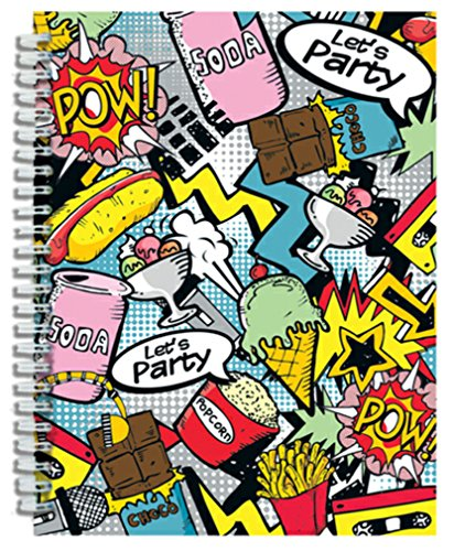 iscream 'Pop Art' 3D Cover Spiral-Bound Lined Page 8.5
