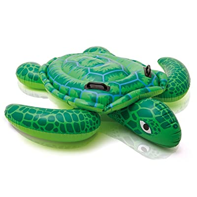 "Intex Lil' Sea Turtle Ride-On, 59"" X 50"", for Ages 3+: Toys & Games"