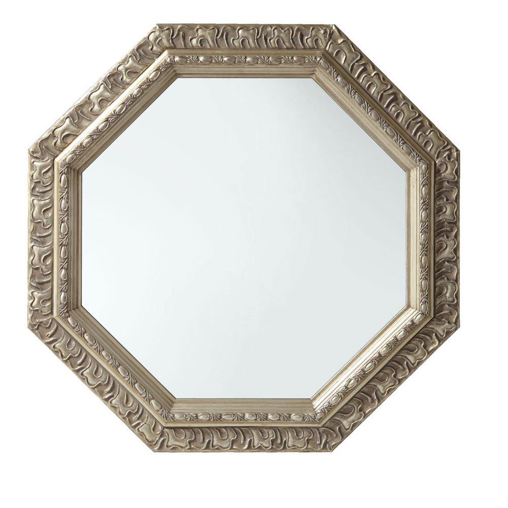 ハンドメイド 八角形 ミラー アンティーク調 壁掛け 卓上 飛散防止 鏡 かがみ かわいい シャンパンゴールド B00UYSNB1S