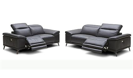 Amazon.com: J&M Furniture Giovani 2-Piece Premium Leather Living ...