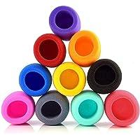 Cubierta de Micrófono, 10 Piezas Esponjas Microfonos, Cubierta de Micrófono Colorida, Cubiertas de Espuma de Microfono…