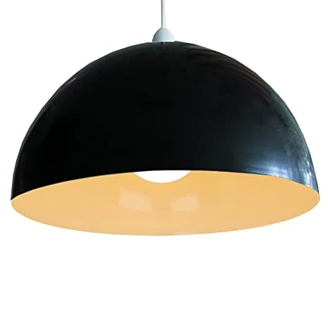 Pantalla para lámpara de techo, color negro, de metal, 35,56 ...