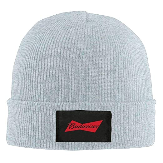 Amazon.com  Mens Womens Knit Beanie Hat Budweiser Beer Red Warm Winter Hat  Skull Cap Unisex  Clothing 26dcf4c97dae