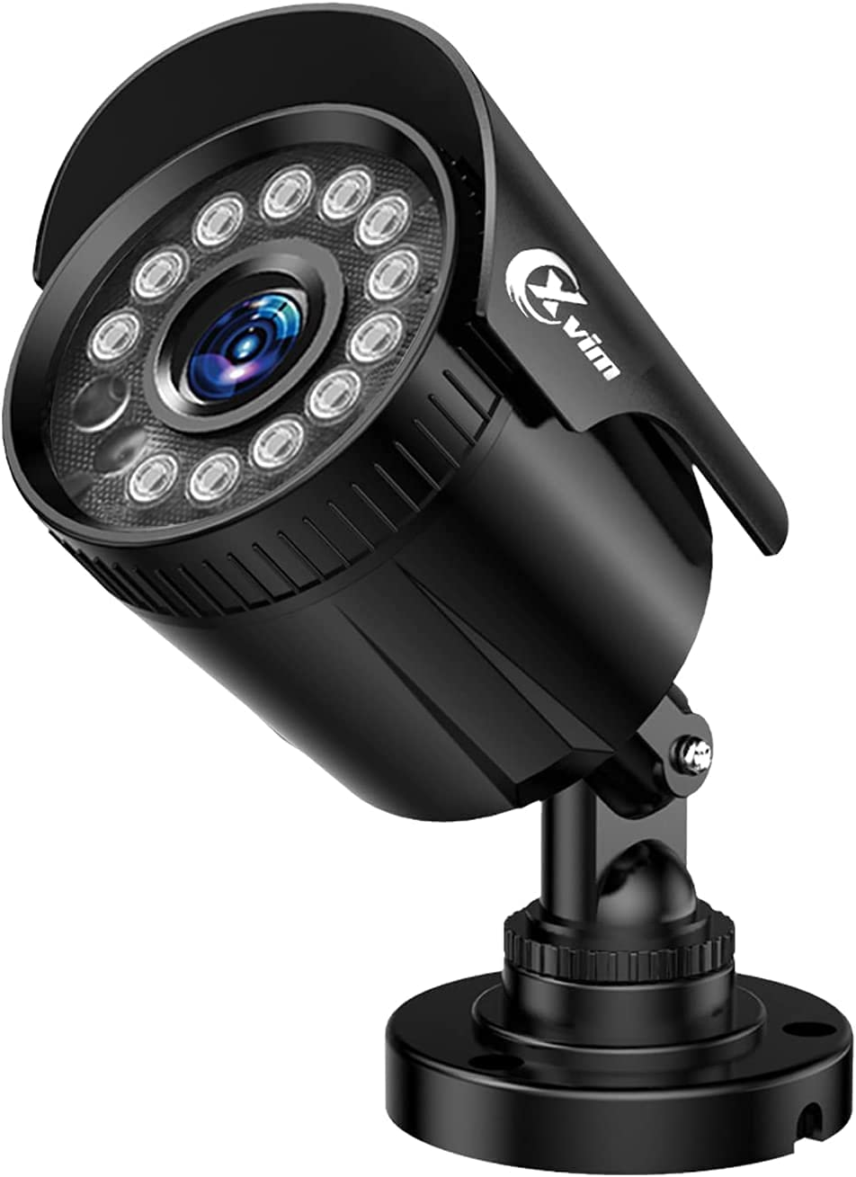 XVIM 1080P Security Bullet Camera for Home and Outdoor CCTV System with Night Vision Black,Motion Alert,Smart Lighting