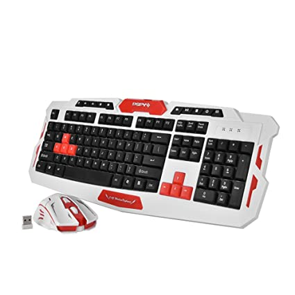 Amazon Com Fosa Gaming Mouse Gaming Keyboard Combo 2 4ghz Wireless