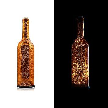 Amazon.com: wonderfulwu botella de vino luces, retro ...