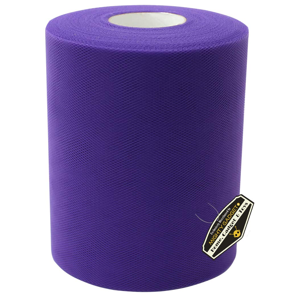 Purple and 300 feet Baby Shower Tulle Rolls 6 inch 100 yards Tulle Spool//Ribbon for DIY Craft Party Decoration Wedding Skirt//Dress