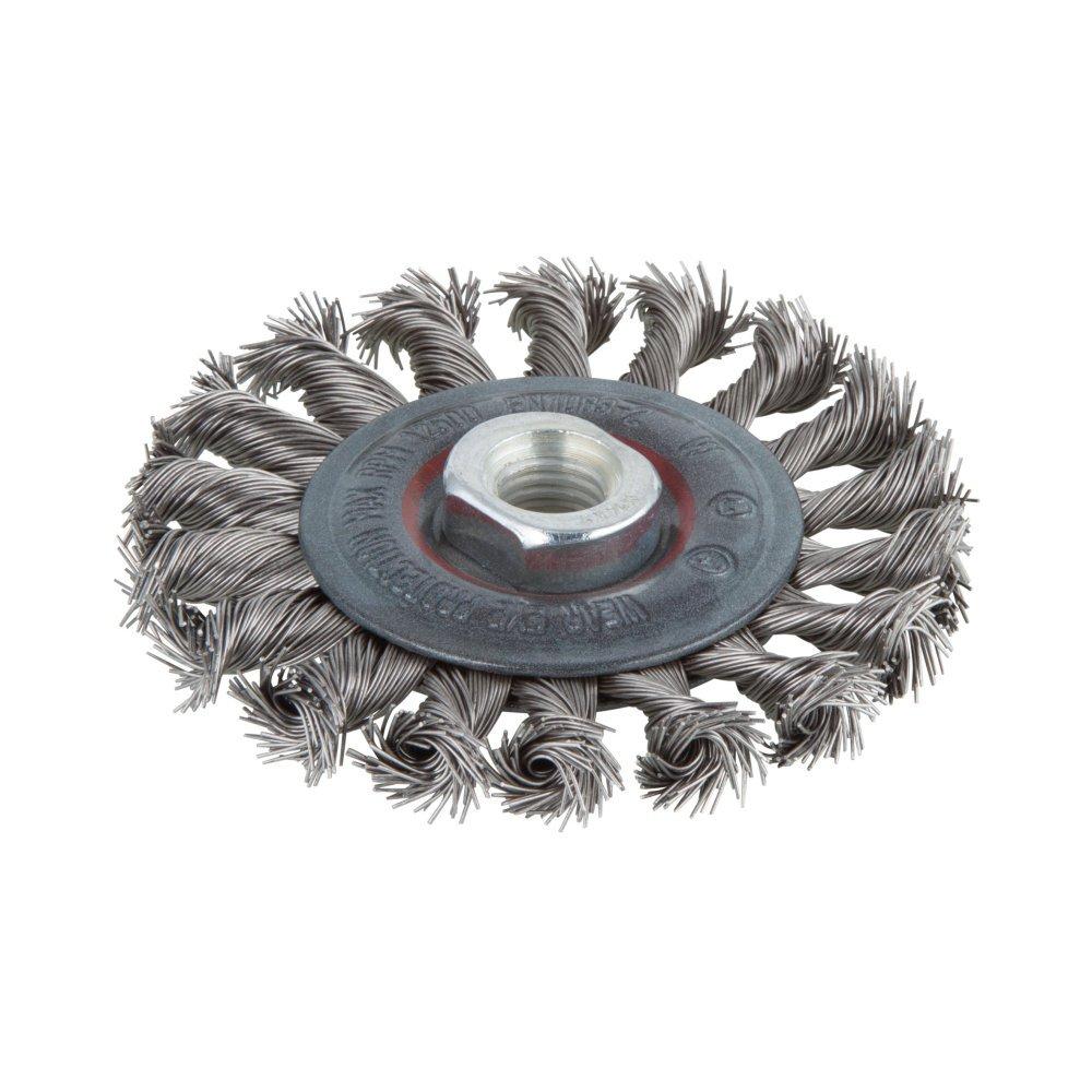 Wolfcraft 2701000 Brosse inox circulaire Torsadé e Filetage M 14 / Diamè tre 100 mm