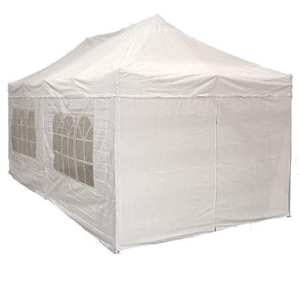 10u0027x20u0027 Pop up 6 Wall Canopy Party Tent Gazebo Ez White - F  sc 1 st  Amazon.com & Amazon.com: 10u0027x20u0027 Pop up 6 Wall Canopy Party Tent Gazebo Ez White ...