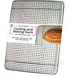 UltraCuisine 100% Stainless Steel Wire Cooling Baking Rack for Oven Use, Heavy Duty Roasting Racks