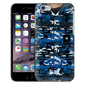Apple iPhone 6 Case, Snap On Cover by Trek Army Blue Camouflage Uniform Case